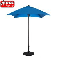 Venture Series 6' Square Fiberglass Commercial Umbrella - FRAME ONLY